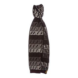 Multicolored Fendi Zucca Knit Scarf Fendi Designer Scarves & Wraps