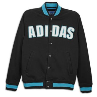 adidas Originals Fleece Varsity Jacket   Mens   Casual   Clothing   Vivid Red/Sunshine