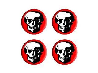 Skull Skeleton   Wheel Center Cap 3D Domed Set of 4 Stickers: Automotive