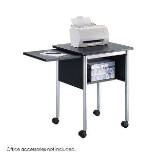 Safco 1873BL Mini Mobile Machine Stand, 2 Shelf, 23w x 19 1/2d x 28 5/8h, Black: Office Products