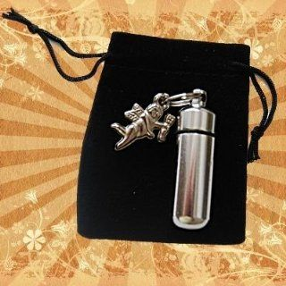 Memorial Keychain Urn / Vial with Guardian Angel Charm: Everything Else