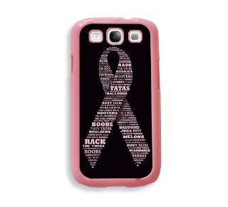 Breast Cancer Awareness Ribbon Pink Plastic Bumper Samsung Galaxy S3 SIII i9300 Case   Fits Samsung Galaxy S3 SIII i9300: Cell Phones & Accessories