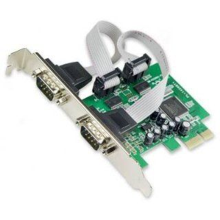 SYBA SY PEX15034 2Port DB9 RS232 PCI Express Controller Card: Electronics