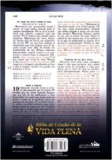 Biblia de Estudio Vida Plena, Espa�ol, Piel Negro: Zondervan: 0639390731975: Books