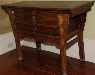 RCF357 Antique Chinese Table Cabinet, circa 1850, Shanxi Province China, Northern Elm (Yumu), Asian   Nightstands
