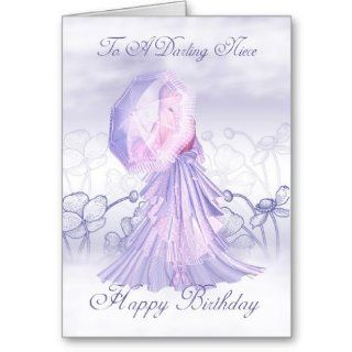 Niece Cute Feminine Birthday Card: Office Products