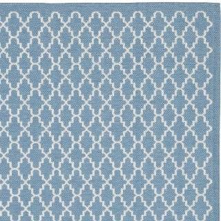 Safavieh CY6919 243 Courtyard Collection Indoor/Outdoor Square Area Rug, 7 Feet 10 Inch, Blue and Beige