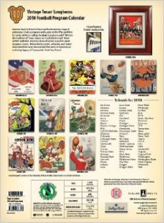 Vintage Texas Longhorns 2010 Football Program Calendar: Asgard Press: 9781603683708: Books