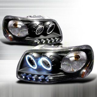 1997 2003 Ford F150 CCFL Halo Projector Headlights Black: Automotive
