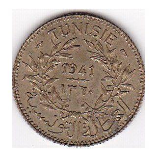 1941 Tunisia 1 Franc Coin KM#247