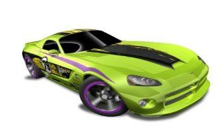 Hot Wheels   '06 Dodge Viper SRT10 (Green w/Black, Yellow Stripe)   HW Code Cars '12   8/22 ~ 233/247 [Scale 1:64]: Toys & Games