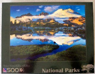 Sure Lox; National Parks Mount Baker Washington 500 Piece Jigsaw Puzzle: Toys & Games