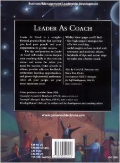 Leader As Coach: Strategies for Coaching & Developing Others: Mary Dee Hicks: 9780938529149: Books