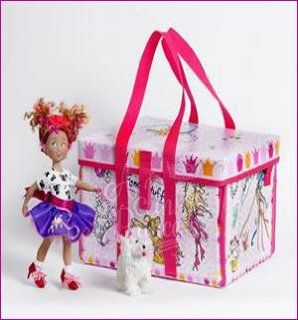 "Fancy Nancy 9"" Madame Alexander Doll & Posh Puppy ZIP BIN Carry Case SET Toys & Games"