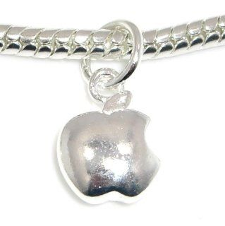 ".925 Sterling Silver "" Apple Computer Iphone Dangle "" Bead Compatible with Pandora Chamilia Kay Troll Bracelet: Jewelry"