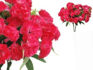 252 Mini Silk Carnations Wedding Flowers SALE   Fuchsia   Artificial Flowers