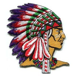 Native American Indian Chief Retro Applique BIG Xl Applique Iron on Patch S 251 Handmade Design From Thailand