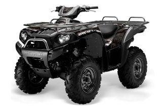 AMR Racing Kawasaki Brute Force 650i 4x4 ATV Quad, Graphic Kit   Reaper Black Automotive