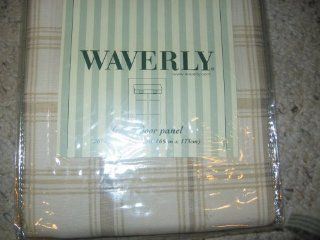 Waverly Pantry Plaid Canvas French Door Panel   Window Treatment Panels