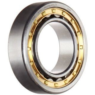 FAG NJ2210E M1A C4 Cylindrical Roller Bearing, Single Row, Straight Bore, Removable Inner Ring, Flanged, High Capacity, C4 Clearance, Metric, 50mm ID, 90mm OD, 23mm Width: Industrial & Scientific