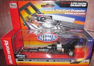 #SC263/48 2 Auto World NHRA Top Fuel Dragster MavTV Brandon Bernstein Electric Slot Car