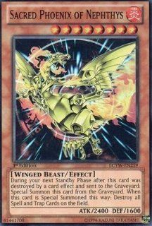 Yu Gi Oh!   Sacred Phoenix of Nephthys (LCYW EN259)   Legendary Collection 3: Yugi's World   Limited Edition   Super Rare: Toys & Games
