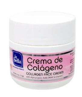 La Bella Crema De Colageno Face Cream, 4 Ounce  Facial Cleansing Creams  Beauty
