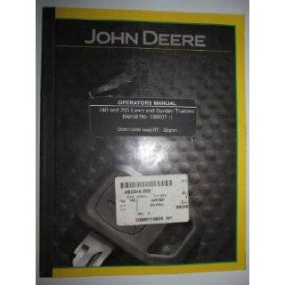 John Deere 240 265 Lawn Garden Tractor Operators Owners Manual (s/n 130, 001 & up) OMM114669 H1 John Deere Books