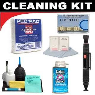 Lenspen Lens Cleaning System + PEC PAD Non Abrasive Wipes (100 Wipes) + Hurricane Blower + Deluxe DB ROTH Cleaning Kit For The The Panasonic Lumix DMC LZ10, DMC LZ8, DMC LZ7, DMC LZ6, DMC LZ5, DMC LZ3, DMC LS60, DMC LS70, DMC LS75, DMC LS80 Digital Cameras