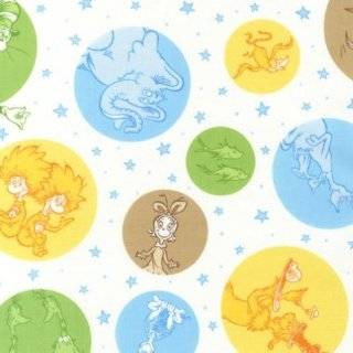 Celebrate Seuss 2 Multi colored Character Dots Fabric Three Yards (2.7m) ADE 12781 267 Adventure
