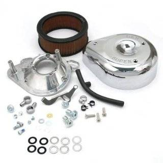 S&S Cycle Super E and G Teardrop Air Cleaner Kit   Chrome   Harley Davidson Dyna 1992 1998 / Electra Glide 1991 1998 / FXR 1999 / Heritage Softail/Softail 1991 1999 / Low Rider/Super Glide 1991 1994 / Road Glide 1998 / Road King 1994 1998 / Sport Gl A