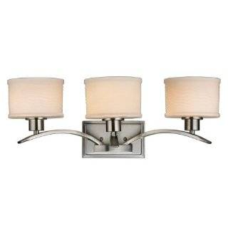 Hampton Bay Mayport Collection 3 Light Bath Bar Brushed Nickel Finish   Vanity Lighting Fixtures