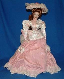Franklin Mint Heirloom Porcelain Doll   The Gibson Girl, Tea at the Ritz