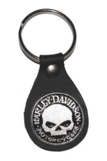 Harley Davidson Small Skull Medallion Key Fob. K13H: Clothing