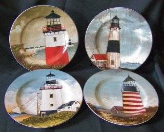 By the Sea Stoneware Plates (David Carter Brown Collection  Indonesia) : Salad Plates : Everything Else