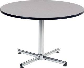 Virco U48R 66433 48 Round Cafe Table with 33 X Shaped Steel Base   Dining Tables