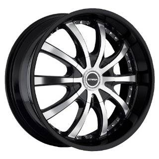 STRADA WHEELS SOLE BLACK MACHINE 6X5.5 +24   24X9.5 Automotive