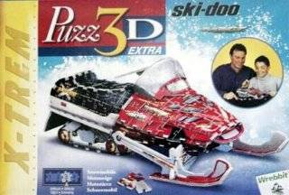 Snowmobile Ski Doo, 293 Piece 3D Jigsaw Puzzle Made by Wrebbit Puzz 3D: Toys & Games