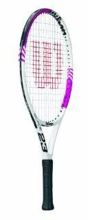 Wilson Blade Junior Recreational Tennis Racket (White/Pink, 23 Inch) : Sports & Outdoors