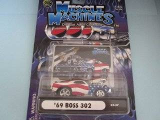 69 Boss 302 with Head Scoop Stars N Stripes By Muscle Machines Toys & Games