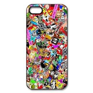 Personalized JDM Sticker Bomb Hard Case for Apple iphone 5/5s case AA306: Cell Phones & Accessories