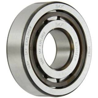 SKF Cylindrical Roller Bearing, Removable Inner Ring, Flanged, High Capacity, Polyamide/Nylon Cage, Metric Industrial & Scientific