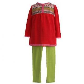 BT Kids Little Girls Clothes 2pc. Trendy Red Sweater Outfit Girl 6X: bt kids: Clothing