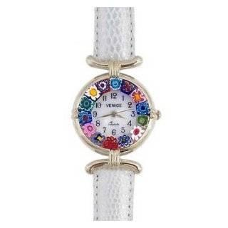 Venezia Millefiori Watch   Gray Band & Silver [Watch] Watches