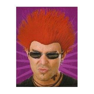 Wig Deluxe Red Spiked Punk Rock Star Spike Halloween Costume Accessory: Clothing