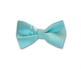 Tiffany Blue Solid Color Self Tie Bow Tie Clothing