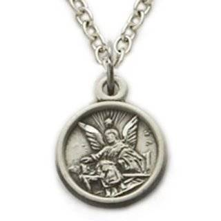 """.925 Sterling Silver Guardian Angel Baby Medal Pendant Christian Jewelry Angel Jewelry Gift Boxed w/Chain Necklace 13"""" Length Gift Boxed: Jewelry"""