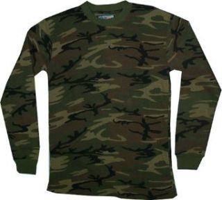 Big Tall Camo Camoflauge Shirts (brown 2x): Clothing