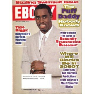 Ebony Magazine, Vol. LV, No. 3 (January, 2000) Puff Daddy, Taye Diggs: John H. Johnson: Books