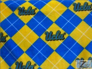 "NCAA COLLEGE PRINT POLAR FLEECE FABRIC   UCLA Bruins   60"" SOLD BY THE YARD (349)"